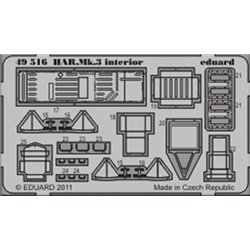 EDUARD 49516 Photo Etched 1/48 HAR. Mk.3 interior S.A. For Hasegawa