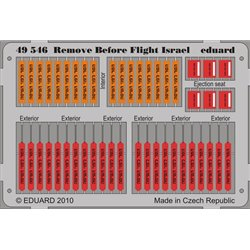 EDUARD 49546 Photo Etched 1/48 Remove Before Flight – Israel