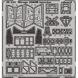 EDUARD 49555 Photo Etched 1/48 Mirage 2000B interior S. A. For Kinetic