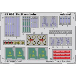 EDUARD 49605 Photo Etched 1/48 F-4B seatbelts For Academy