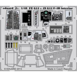 EDUARD 49644 Photo Etched 1/48 F-4B interior S. A. Academy For Academy