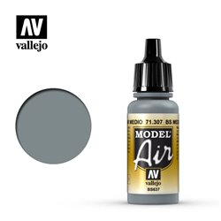 Vallejo 71.307 Model Air BS Medium Gris Mer – BS Medium Sea Grey 17 ml