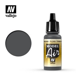 Vallejo 71.315 Model Air Noir Pneu – Tyre Black 17 ml