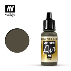 Vallejo 71.316 Model Air N41 Olive Drab Foncé – N41 Dark Olive Drab 17 ml