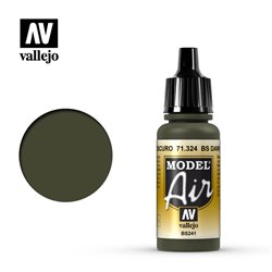 Vallejo 71.324 Model Air BS Vert Foncé – BS Dark Green 17 ml