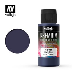 Vallejo 62.011 Premium Airbrush Color Dark Blue 60ml