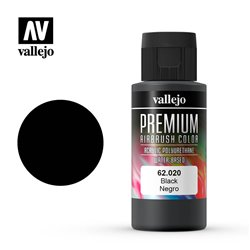 Vallejo 62.020 Premium Airbrush Color Noir – Black 60ml