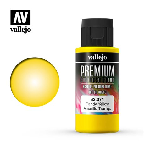 Vallejo 62.071 Premium Airbrush Color Jaune Bonbon – Candy Yellow 60ml