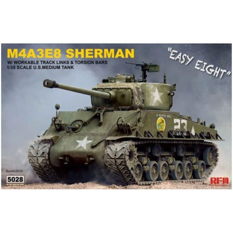 "RYE FIELD MODEL RM-5028 1/35 M4A3E8 Sherman ""Easy Eight"""
