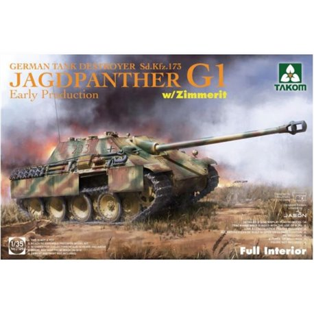 TAKOM 2125 1/35 Jagdpanther G1 Early Production w/zimmerit & full interior