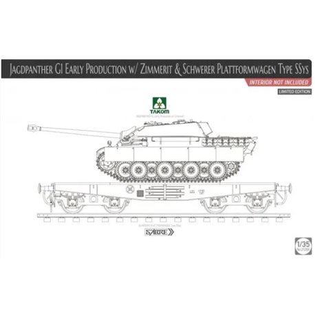 TAKOM 2125x 1/35 Jagdpanther G1 Early Production w/Zimmerit
