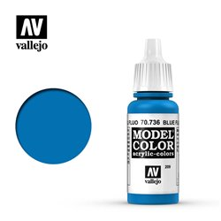 Vallejo 70.736 Model Color 209 Bleu Fluo - Blue Fluo 17ml
