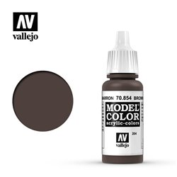 Vallejo 70.854 Model Color 204 Patine Brun - Brown Glaze 17ml