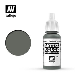 Vallejo 70.863 Model Color 179 Gris Gunmetal - Gunmetal Grey FS37200 17ml