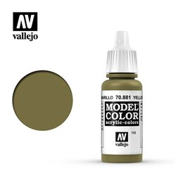 Vallejo 70.881 Model Color 112 Jaune Vert - Yellow Green FS34259 17ml