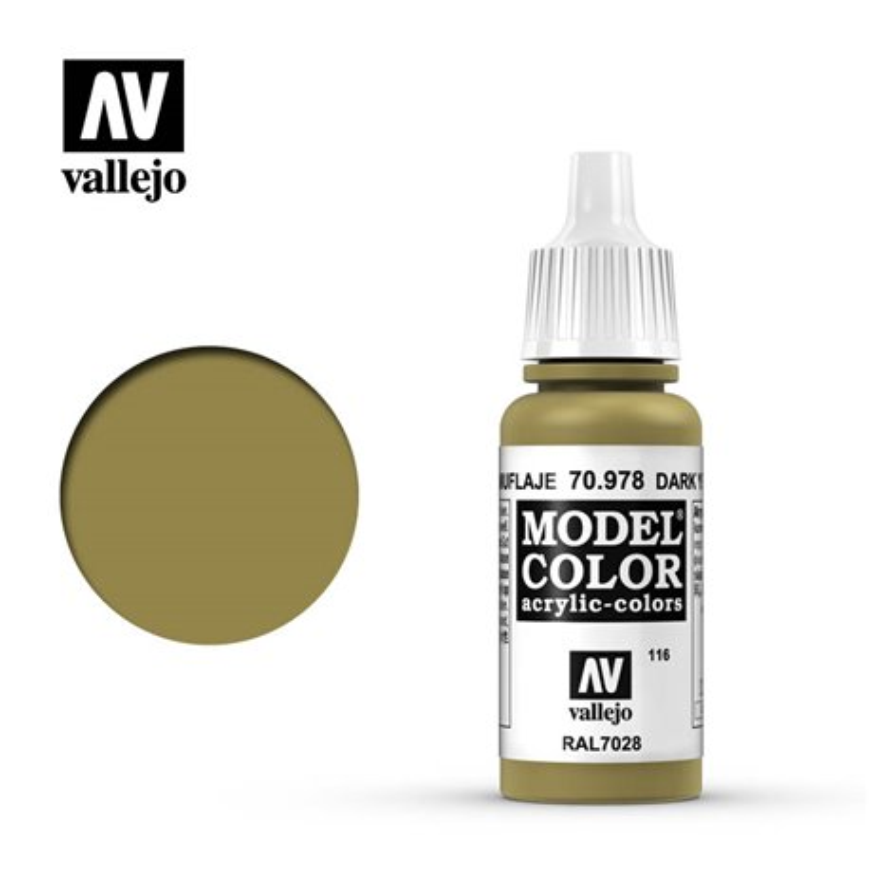 Vallejo 70.978 Model Color 116 Jaune Camouflage - Dark Yellow FS33440 17ml