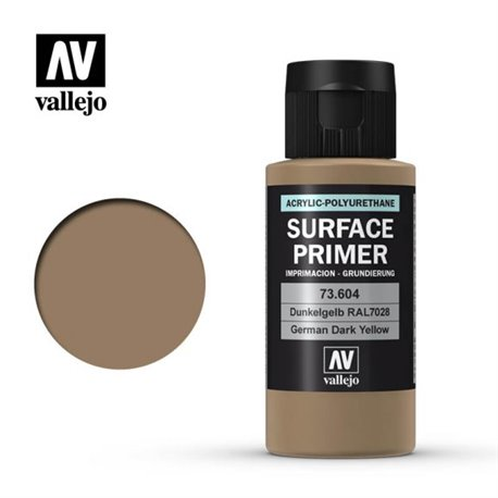 Vallejo 73.604 Model Color Surface Primer Dunkelgelb - German Panzer Yellow 60ml