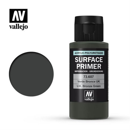 Vallejo 73.607 Model Color Surface Primer UK Bronze Green 60ml