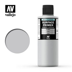 VALLEJO 74.601 Surface Primer Grey Color 200 ml.