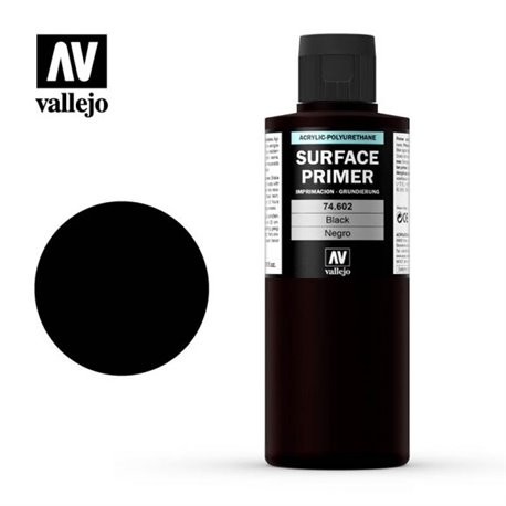 Vallejo 74.602 Model Color Surface Primer Noir - Black 200ml