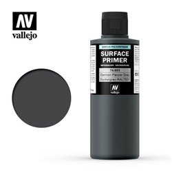 VALLEJO 74.603 Surface Primer Ger. Panzer Grey Color 200 ml.