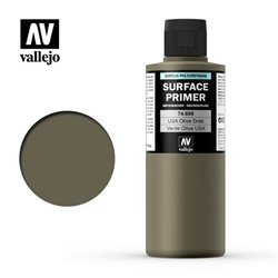 VALLEJO 74.608 Surface Primer U.S. Olive Drab Color 200 ml.