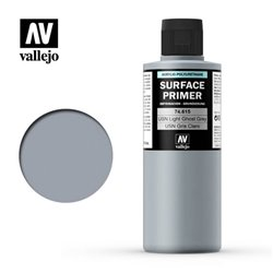 VALLEJO 74.615 Surface Primer USN Light Ghost Grey Color 200 ml.