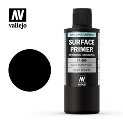 VALLEJO 74.660 Model Color Surface Primer Gloss Black 200ml