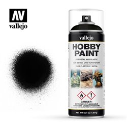 VALLEJO 28.012 Aerosol Black Primer Basic Primer 400 ml.