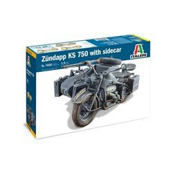 ITALERI 7406 1/9 ZUNDAPP KS 750 with Sidecar