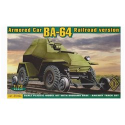 ACE 72264 1/72 Armored Car BA-64 Railroad version
