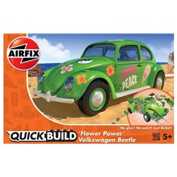 "AIRFIX J6031 1/24 Quick Build Volkswagen Beetle ""Flower Power"""