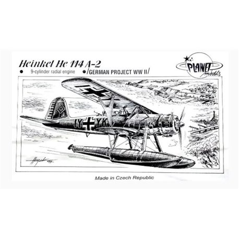 PLANET MODELS 035 1/72 Heinkel He 114 A-2 9-Cylinder Radial Engine-German Project