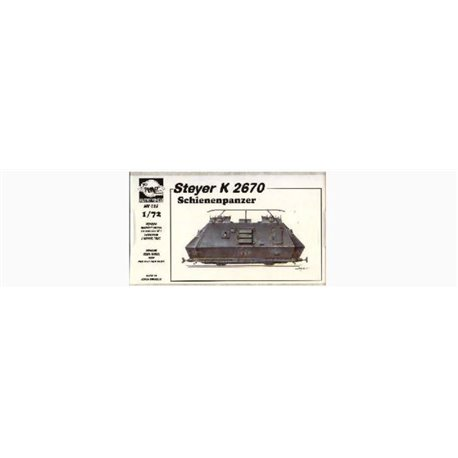 PLANET MODELS MV028 1/72 Schienenpanzer Steyer K 2670