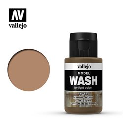 VALLEJO 76.514 Model Wash Dark Brown Wash Color 35 ml.