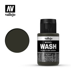 VALLEJO 76.517 Model Wash Dark Grey Wash Color 35 ml.