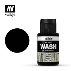VALLEJO 76.518 Model Wash Black Wash Color 35 ml.