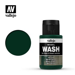 VALLEJO 76.519 Model Wash Olive Green Color 35 ml.