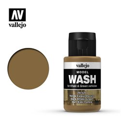 VALLEJO 76.520 Model Wash Dark Khaki Green Color 35 ml.