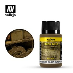 Vallejo 73.807 Weathering Effects European Thick Mud 40ml