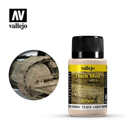Vallejo 73.810 Weathering Effects Light Brown Thick Mud 40ml