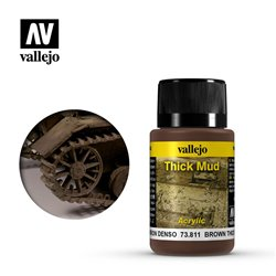 Vallejo 73.811 Weathering Effects Brown Thick Mud 40ml