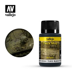 Vallejo 73.812 Weathering Effects Black Thick Mud 40ml