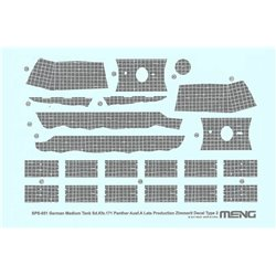 MENG SPS-051 1/35 German Medium Tank Sd.Kfz.171 Panther Ausf.A Late Producti.Zimmerit Decal B