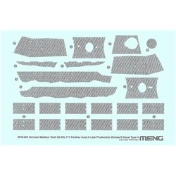 MENG SPS-053 1/35 German Medium Tank Sd.Kfz.171 Panther Ausf.A Late Zimmerit Decal