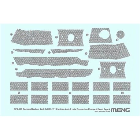 MENG SPS-053 1/35 German Medium Tank Sd.Kfz.171 Panther Ausf.A Late Producti.Zimmerit Decal D
