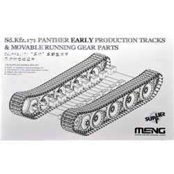 MENG SPS-057 1/35 German Medium Tank Sd.Kfz.171 PantherEar Production Tracks&Movable Running GearParts