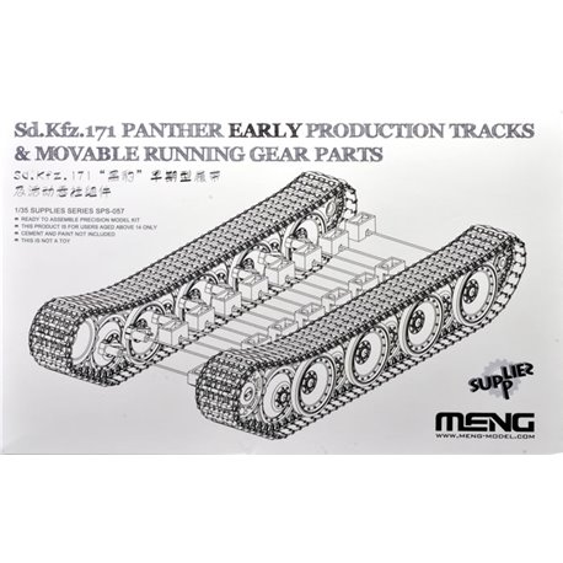 MENG SPS-057 1/35 German Medium Tank Sd.Kfz.171 PantherEar Production Tracks&Movable Running GearParts