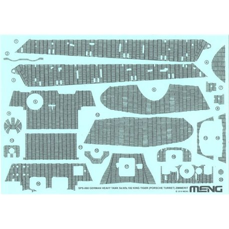 MENG SPS-060 1/35 German Heavy Tank Sd.Kfz.182 King Tiger (Porsche Turret) Zimmerit Decal