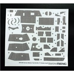MENG SPS-058 1/35 German Medium Tank Sd.Kfz.171 Panther Ausf.D Zimmerit Decal